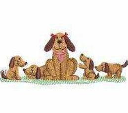 Hund mit Kids