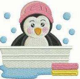 Pingu in der Wanne