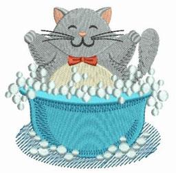 Katze im Bad