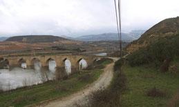 Puente de Briñas desde arriba