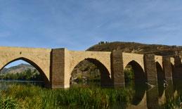 Puente de Briñas desde abajo