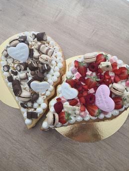 Gâteau de mariage en forme de coeur