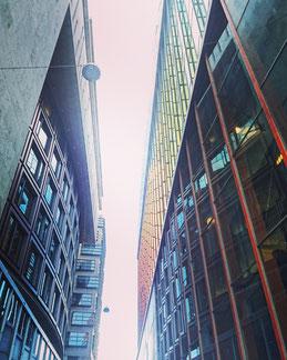 Modern buildings in Amsterdam
