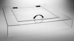 Couvercle acrylique et trappe 7032, FMU GmbH, Paniers Aperçu