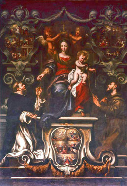 Bastia-Eglise Saint-Jean - Donation du Rosaire - Domenico Piola 1679