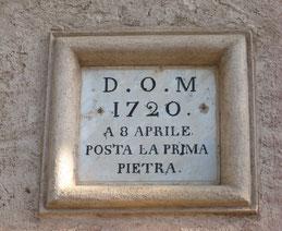 La Porta - Pose de la première pierre du Campanile