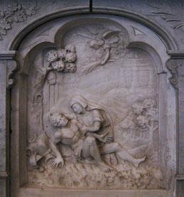 Ile-Rousse Eg. Immaculée Conception - Bas-relief -Autel St Sébastien