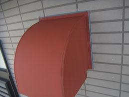 鉄板フードのサビ止め塗装及び外壁防水コーキング処理。 熊本〇様宅