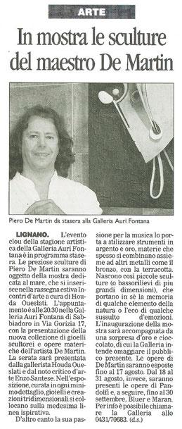 Messaggero Veneto del 29 luglio 2007