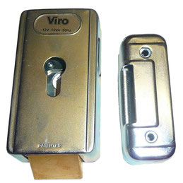 VIRO electric lock with horizontal latch for AKIA France System's wheeled motor drive