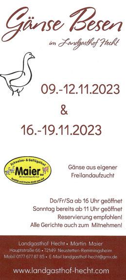 Landgasthof Hecht Martin Maier Neustetten-Remmingsheim