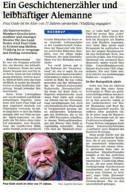 Mittelbadische Presse, ARZ, 2. Januar 2020