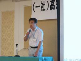 講演をされる四国技術事務所の谷脇副所長
