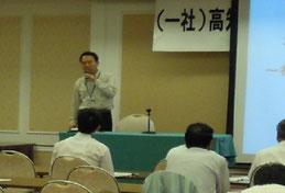 講演をされる建設検査課の川崎課長補佐