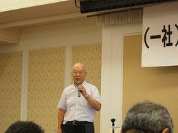 講演をされるヒロセの水谷技術顧問