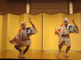 見事な娯茶平の男踊り