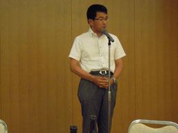 中締めの挨拶をする県測協の公文副会長