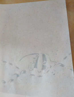『ツノダシの海んぽ』月桃紙に染めたグリーティングカード/GreetingCARD FujinoBingata/ふじのびんがた染工房の御誂え【きもの】【ワンピースdress】承ります。