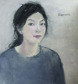 纪录肖像7 DIARY PORTRAIT VII 60X60cm 布面油画 OIL ON CANVAS 2005