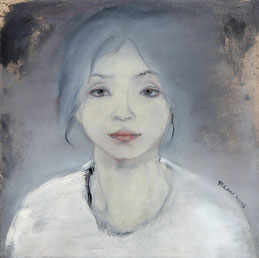 纪录肖像5 DIARY PORTRAIT V 60X60CM 布面油画 OIL ON CANVAS 2005 (收藏于巴黎 COLLECTED IN PARIS)