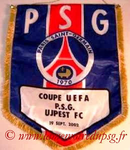 Fanion Officiel PSG-Ujpest FC 2002-03