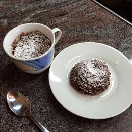 Tassenkuchen für die Mikrowelle