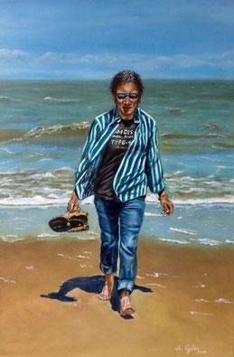 Strandläufer, 40x60, Acryl  2014