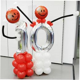 Luftballon Ballon Smiley Männchen Zahl Dekoration Lagerverkauf Gebrüder Götz Würzburg Jubiläum Event Firma