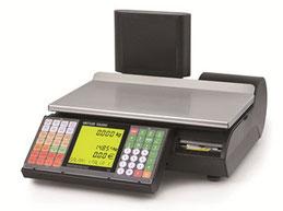 Flache Kompaktwaage mit taktiler Tastatur für Thekenverkauf und Etikettierung