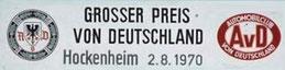XXXIIº Grosser Preis von Deutschland de 1970