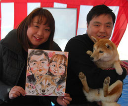 犬の似顔絵イベント