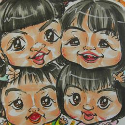 子供たちに大人気の似顔絵イベント
