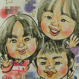 似顔絵師が福島県へ