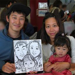 神奈川県へ似顔絵師が出張