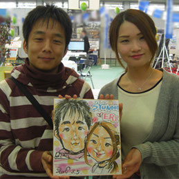栃木県に似顔絵イベント