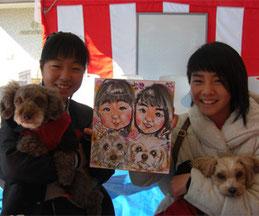 ペットの描ける似顔絵師