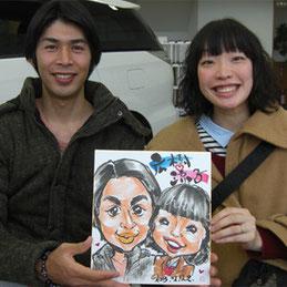 千葉県へイベント出張似顔絵