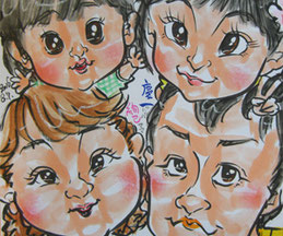 似顔絵師が栃木でイベント