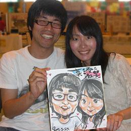 栃木県イベントに似顔絵師