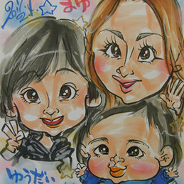 千葉県へ似顔絵師が出張
