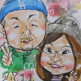 大好評の似顔絵を福島県須賀川市で