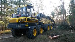Harvester, Holzerntemaschine zur Durchforstung und zum Holzeinschlag, Maschinenpark der plb