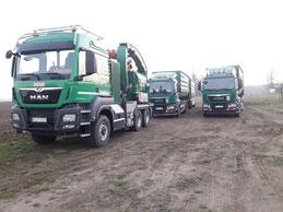 LKW zum Transport von Stubben und Restholz