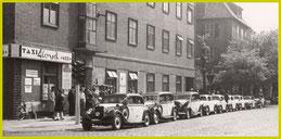 Taxi LLOYD Zentrale in den 50er Jahren