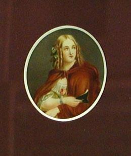 Englischer Miniaturist des 19. Jahrhunderts:  Brustbild einer Dame