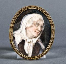 Miniaturist 18./19. JH. Porträt einer alten Dame
