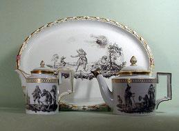 Sechstlgs. Déjeuner, Fürstenberg 1790 , um 1780 - Bild 1
