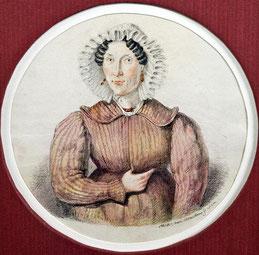 Maler des 19. Jhs.: Hüftstück einer älteren Dame mit Spitzenhaube