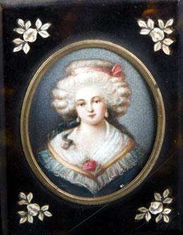 Miniaturist des 19. Jhs. Damenporträt.
