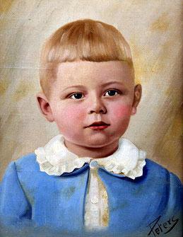 """W. O. Peters """"Porträt eines Knaben"""""""